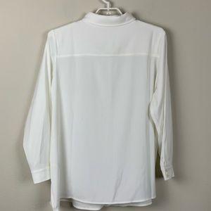 Susan Graver Tops - Susan Graver Ivory Button Down Longe Sleeve Shirt